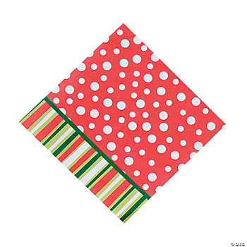 Bright Christmas Luncheon Napkins