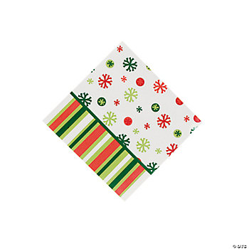 Bright Christmas Beverage Napkins