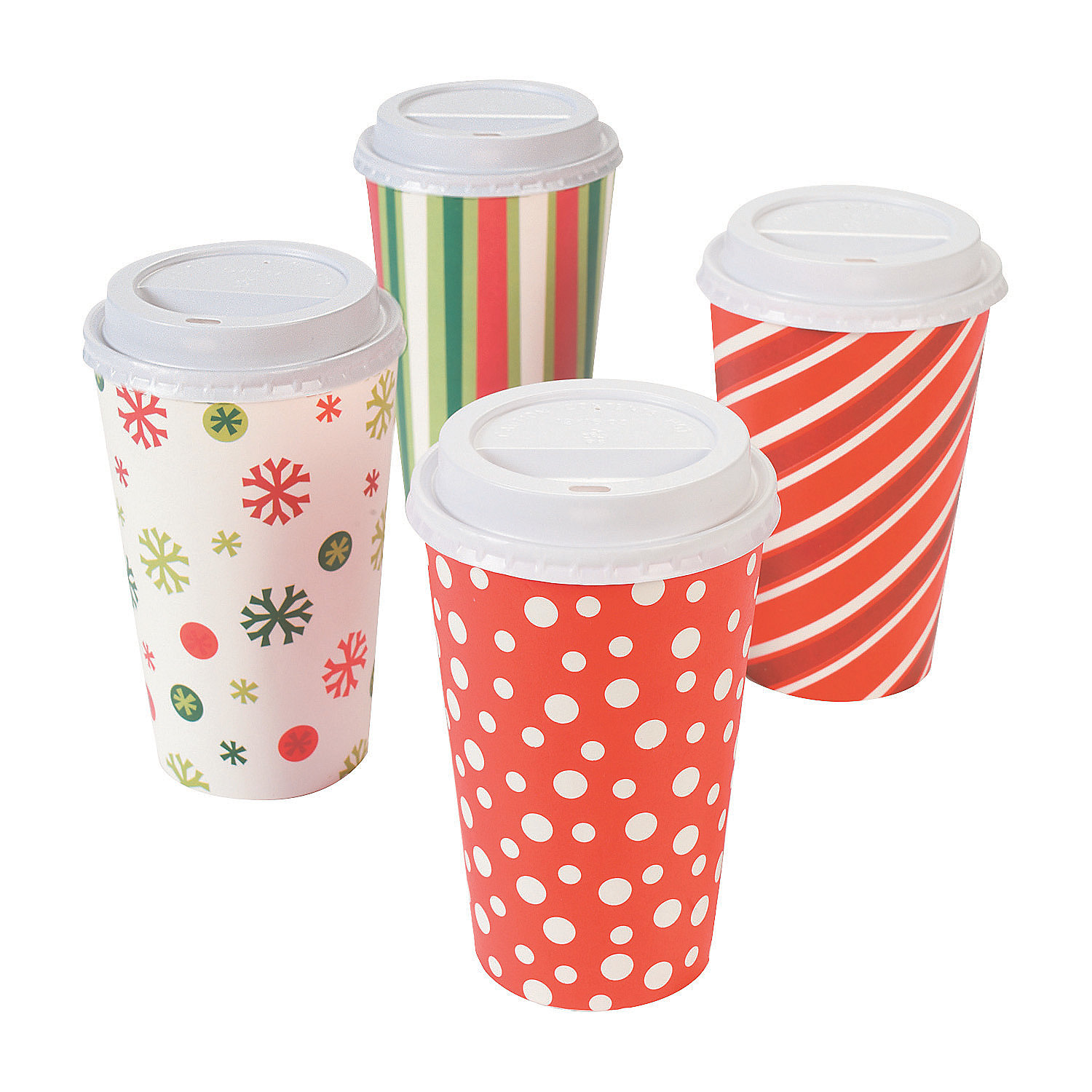 Bright Christmas Insulated Coffee Cups - Oriental Trading