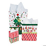 Bright Christmas Gift Bag Assortment