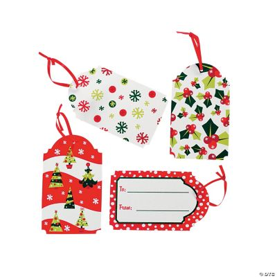 """Bright Christmas """"To/From"""" Gift Tags"""