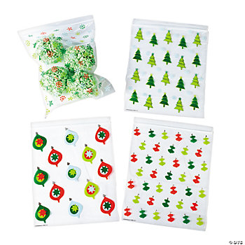 Large Christmas Resealable Bags