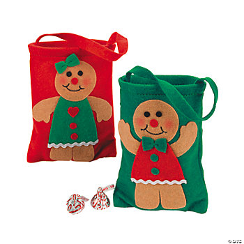 Mini Gingerbread Gift Bags