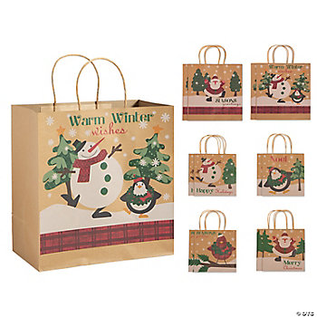 Christmas Kraft Paper Bag Assortment