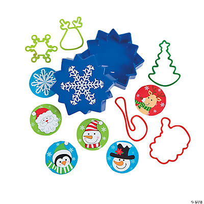 Toy-Filled Snowflake Containers