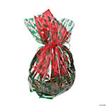 Large Christmas Print Basket Bags