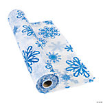 Snowflake Print Tablecloth Roll