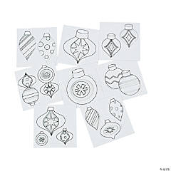 Ornament Fun Coloring Sheets