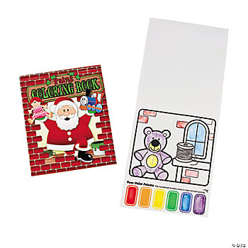 Santa's Workshop Paint & Coloring Books