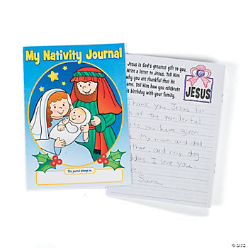 """My Nativity Journal"" Story Starter Books"