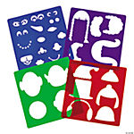 Funny Face Holiday Character Stencils