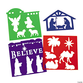 Nativity Die Cut Stencils