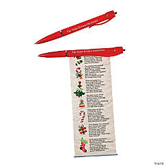 """The Night Before Christmas"" Scroll Pens"