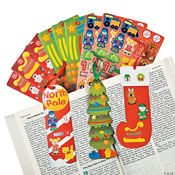 Christmas Make-A-Sticker Bookmarks