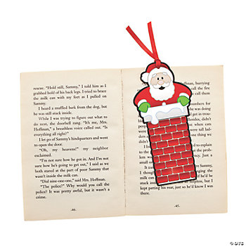 Santa In The Chimney Bookmarks