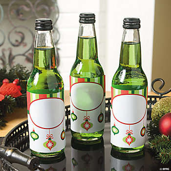 Christmas Ornament Bottle Labels