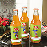 Candy Cane Bottle Labels