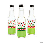 Holiday Patterns Bottle Labels