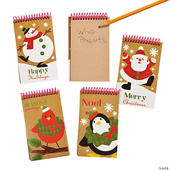 Holiday Kraft Paper Spiral Notebooks