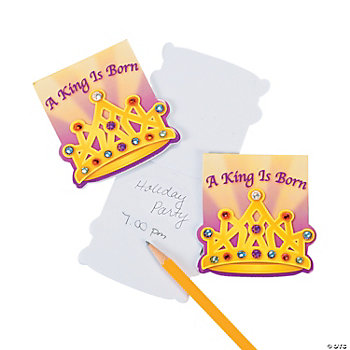 """A King Is Born"" Notepads With Gems"