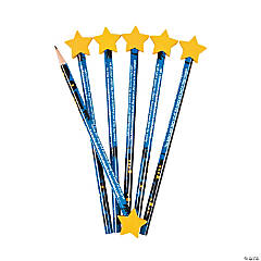 Star Of Bethlehem Pencils With Star Eraser
