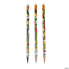 Christmas Smile Face Pencils