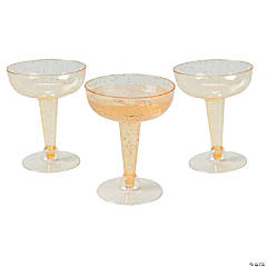 Gold Glitter Champagne Glasses