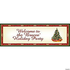 Personalized Christmas Tree Banner - Small
