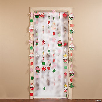 Christmas Cupcake Door Curtain