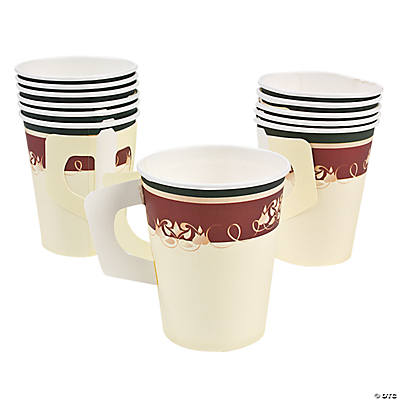 Christmas Tree Coffee Cups with Handles
