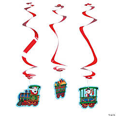Holiday Train Hanging Swirls