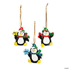 """2012"" Penguin Ornaments"