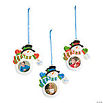 """2012"" Snowman Photo Frame Ornaments"