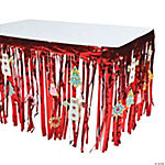 Candytown Table Skirt with Cutouts