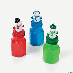 Winter Snowman Character Bubbles