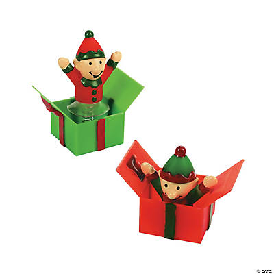 Elves in Present Pop-Ups