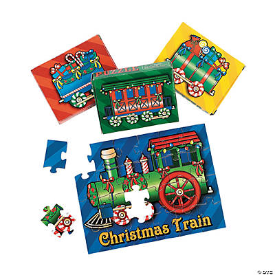 12 Christmas Train Puzzles