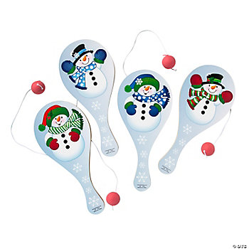 Snowman-Shaped Paddleball Games