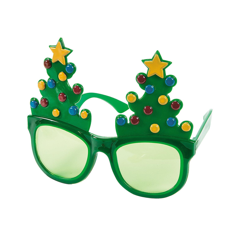 Christmas Glasses Decor