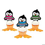 Penguin Character Cupcake Picks