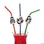 Penguin Party Straws With Cutout