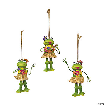 Hula Frog Ornaments