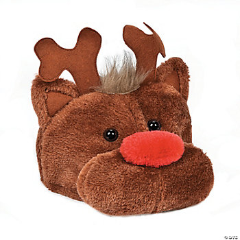 Plush Reindeer Hat
