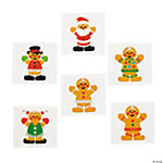 Gingerbread Man Glitter Tattoos