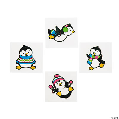 Penguins Glitter Tattoos