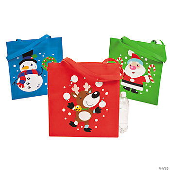 Holly Jolly Santa Tote Bags