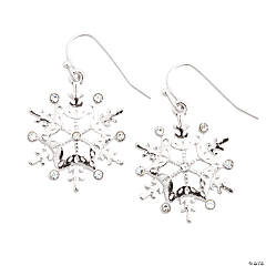 Snowflake Rhinestone Earrings