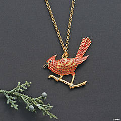 Rhinestone Cardinal Necklace