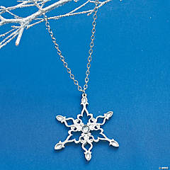Snowflake Rhinestone Necklace