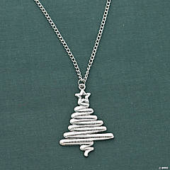 Zigzag Christmas Tree Necklace